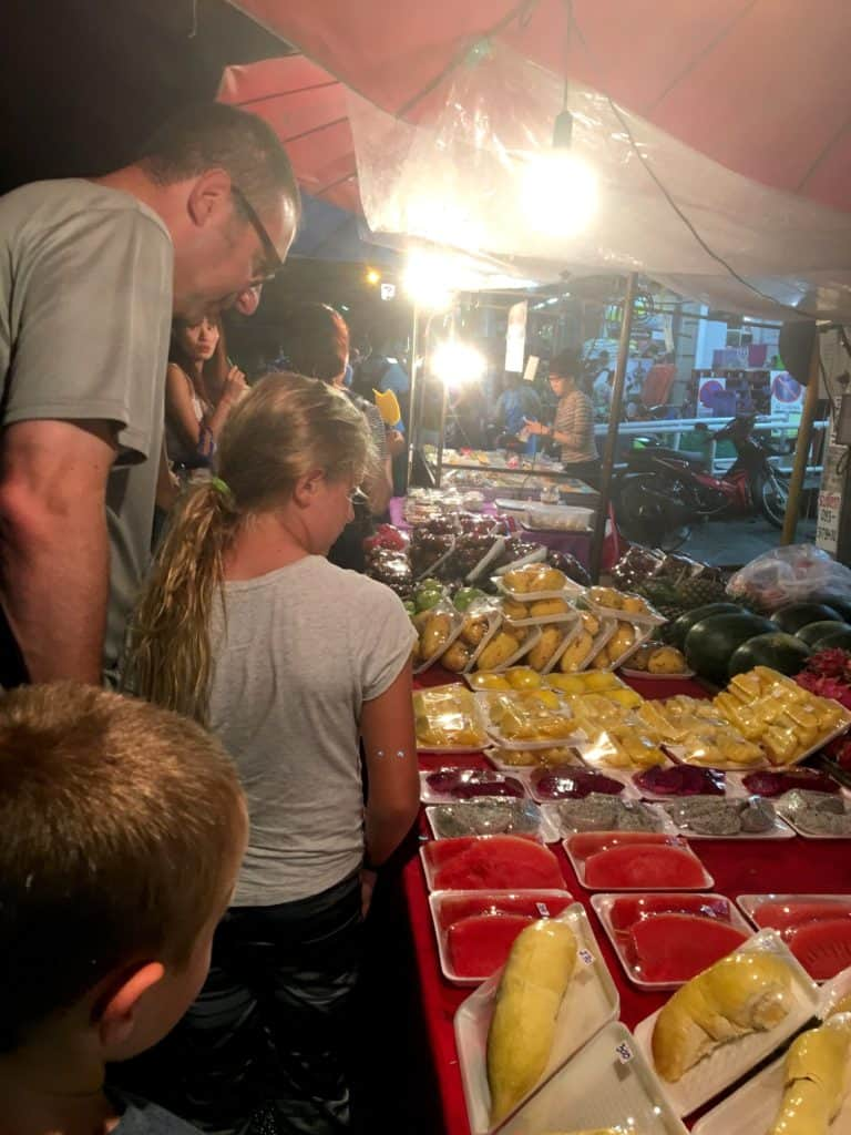 packaged desserts at night market, chaing mai, Thailand