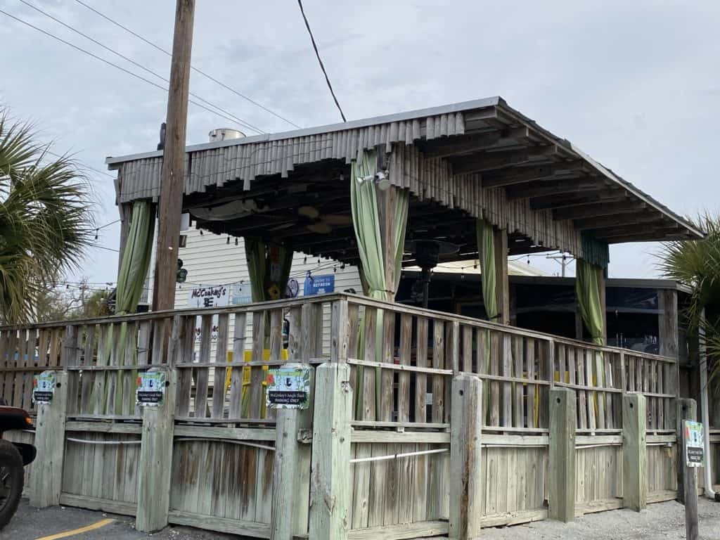 McConkeys beach shack restaurant on Edisto Island