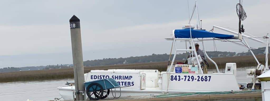 small shrimp boat in South Carolina